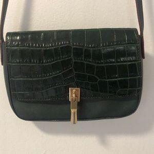Elizabeth and James Croc embossed & leather bag